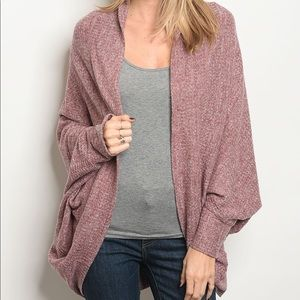 Sweaters - 🌿LAST ONE🌿Burgundy Boho Slouch Cardigan Sweater